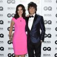 "Ronnie Wood et Sally Humphreys lors de la soirée ""GQ Men of the Year Awards 2014"" à Londres, le 2 septembre 2014."