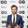 """Jamie Dornan lors de la soirée """"GQ Men of the Year Awards 2014"""" à Londres, le 2 septembre 2014."""
