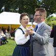 """La reine Silvia de Suède assiste au """"Pensioners Day"""" à Ekero dans le comté de Stockholm, le 27 août 2014."""