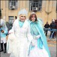 Joan Rivers et sa fille Melissa lors de la parade de Thanksgiving à New York, le 25 novembre 2010