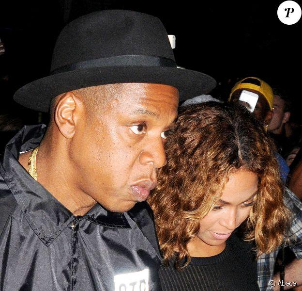 Jay-Z et Beyoncé Knowles lors du Festival Made in America à Los Angeles,le 31 août 2014.