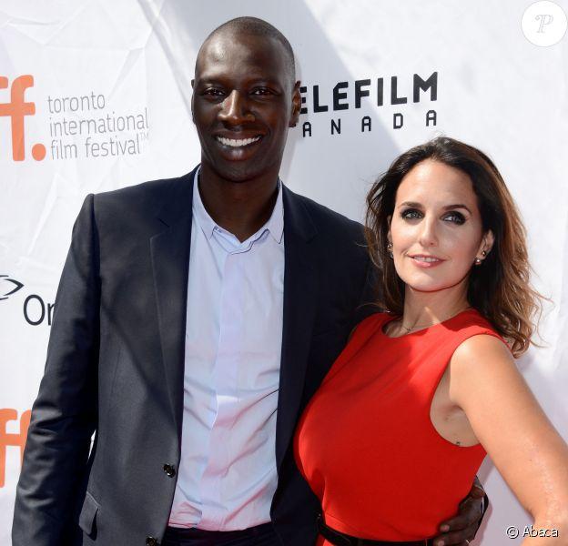 Omar Sy et Hélène Sy lors de la présentation du film Samba au Festival du film de Toronto le 8 septembre 2014
