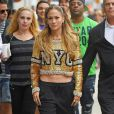 Jennifer Lopez lors d'un photoshoot à New York, le 8 septembre 2014.