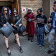 La meilleure amie de Reeva Steenkamp, Gina Myers, à la sortie de la North Gauteng High Court de Pretoria le 12 septembre 2014