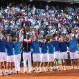 Demi-finale de la Coupe Davis entre la France et la République Tchèque le 13 septembre 2014 à Paris.
