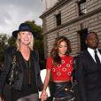 Nicole Scherzinger arrive au défilé Matthew Williamson printemps-été 2015 à Londres. Le 14 septembre 2014.