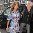 Nicole Scherzinger arrive au défilé Temperley London printemps-été 2015 à Londres, le 14 septembre 2014
