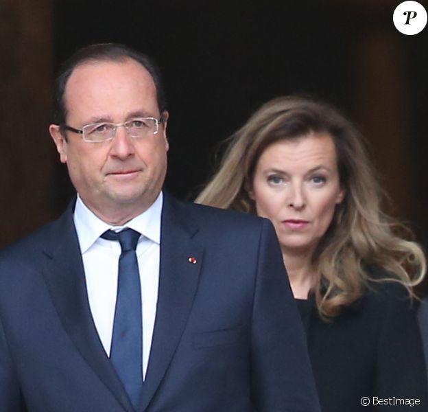 Francois Hollande et Valérie Trierweiler à Paris le 16 octobre 2013.