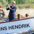 Le roi Willem-Alexander et la reine Maxima des Pays-Bas en visite à Den Helder dans la région de Noord-Holland le 12 septembre 2014