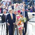Le roi Willem-Alexander et la reine Maxima des Pays-Bas ont visité la province du nord des Pays-Bas. Le 12 septembre 201412/09/2014 - Warmenhuizen