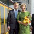 Le roi Willem-Alexander et la reine Maxima des Pays-Bas à Nijkerk le 14 septembre 2014 pour les 10 ans de l'église protestante