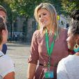 La reine Maxima des Pays-Bas au lancement de la Semaine du Travail à La Haye le 18 septembre 2014