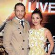 Tom Hardy et sa fiancée Charlotte Riley lors de la première de Edge of Tomorrow au BFI IMAX de Waterloo à Londres, le 27 mai 2014