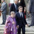 Nicolas Sarkozy - Cérémonie en l'honneur de l'ancien préfet Christian Frémont, qui fut le directeur de cabinet de Nicolas Sarkozy à l'Elysée, en l'église Saint-François-Xavier à Paris, le 24 septembre 2014.