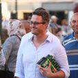 Ralf Schumacher dans les rues de Saint-Tropez, le 21 août 2014