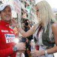 Ralf Schumacher et sa femme Cora à Monte-Carlo le 28 mai 2006.