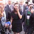 """Marion Cotillard, Natalia Vodianova et les stars arrivent au défilé de mode """"Christian Dior"""", collection prêt-à-porter printemps-été 2015, à Paris. Le 26 septembre 2014 (crédit Abaca TV)"""