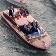 Exclusif - Vue aérienne des arrivées de George Clooney et ses invités qui se rendent à son mariage avec Amal Alamuddin.  Mariage de George Clooney et Amal Alamuddin à l'Aman Canal Grande Venice à Venise, le 27 septembre 2014.