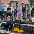 Photographes et public étaient au rendez-vous. Mariage de George Clooney et Amal Alamuddin à l'Aman Canal Grande Venice à Venise, le 27 septembre 2014.