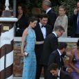 Emily Blunt et son mari John Krasinski partent du Cipriani.  Mariage de George Clooney et Amal Alamuddin à l'Aman Canal Grande Venice à Venise, le 27 septembre 2014.