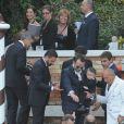 Les invités se mettent en route. Mariage de George Clooney et Amal Alamuddin à l'Aman Canal Grande Venice à Venise, le 27 septembre 2014.