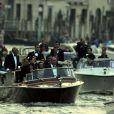La flottille des invités arrive. Mariage de George Clooney et Amal Alamuddin à l'Aman Canal Grande Venice à Venise, le 27 septembre 2014.
