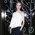 Aymeline Valade assiste à la soirée J'aime la Mode organisée par l'ESMOD Paris au Mandarin Oriental. Paris, le 29 septembre 2014.