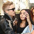 Justin Bieber fait du shopping avenue Montaigne à Paris, le 30 septembre 2014.
