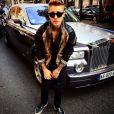 Justin Bieber prend la pose à Paris, le 30 septembre 2014