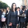 Jennifer Connelly arrive à la Fondation Louis Vuitton pour assister au défilé Louis Vuitton printemps-été 2015. Paris, le 1er octobre 2014.