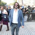Frédéric Beigbeder arrive à la Fondation Louis Vuitton pour assister au défilé Louis Vuitton printemps-été 2015. Paris, le 1er octobre 2014.