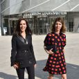 Jennifer Connelly et Sofia Coppola à la Fondation Louis Vuitton lors du défilé Louis Vuitton printemps-été 2015. Paris, le 1er octobre 2014.