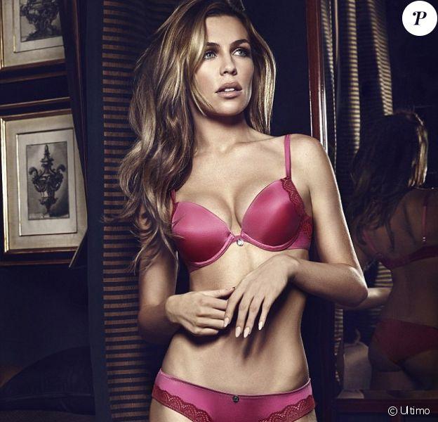 Abbey Clancy pose en lingerie pour Ultimo. Une partie des ventes de la marque est reversée à la recherche contre le cancer du sein - septembre 2014