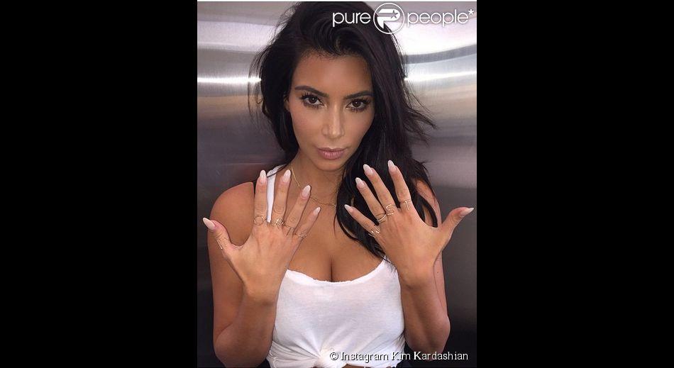 Kim Kardashian a pris la pose en hommage à sa fille North
