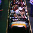 Gwen Stefani, son mari Gavin Rossdale et leur fils Zuma s'amusent à Disneyland à Anaheim, le 6 octobre 2014.