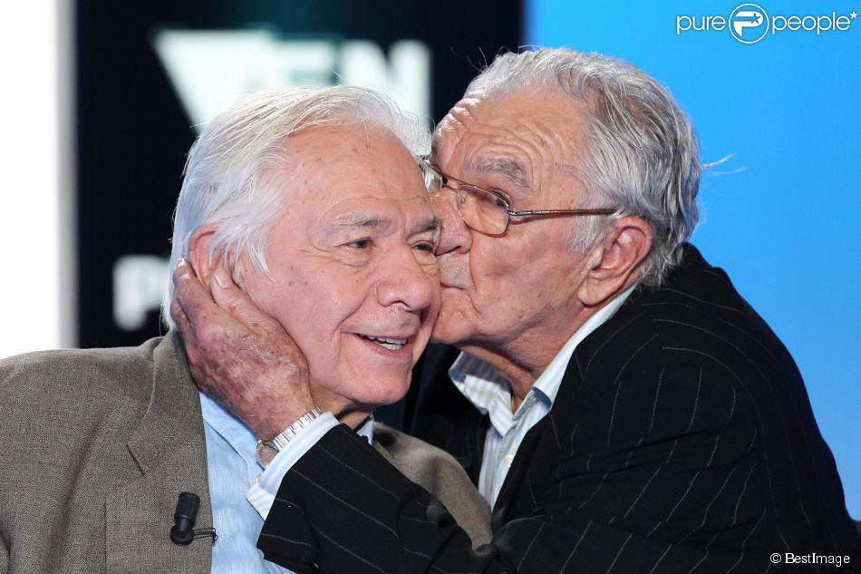 Michel Galabru et son frère Marc Galabru sur l'émission Vendredi sur un plateau le 25 novembre 2011.
