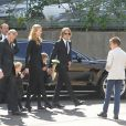 Craig Marran, Nicole Kidman, Keith Urban, Faith Margaret Kidman Urban, Sunday Rose Kidman Urban Lavender Bay, Sydney, le 19 septembre 2014.