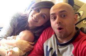 Marie-Ange Casalta, maman : Romuald et elle heureux parents d'un petit James