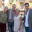 """Jeanne Savary, Gregory Questel,Marie Vincent, Franck Simonin - 3ème festival """"Les Heros de la Tele"""" à Beausoleil le 11 octobre 2014."""