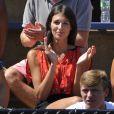 La chanteuse Pauline lors du premier tour de l'US Open de son compagnon Benoît Paire, le 25 août 2014