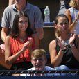 La chanteuse Pauline assiste au match de son compagnon Benoît Paire dans les tribunes de Flushing Meadows à l'occasion de l'US Open, le 25 août 2014