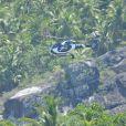 Illustration de l'île du Nord, à 2 heures de bateau du Nord-Ouest de Mahé aux Seychelles et accessible seulement en hélicoptère le 7 octobre 2014. Le couple, George Clooney et sa femme Amal Alamuddin sont arrivés d'Angleterre en jet privé et ont logé dans la suite présidentielle du seul hôtel 5 étoiles de l'île.