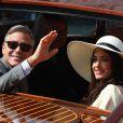 George Clooney et Amal Alamuddin à Venise le 29 septembre 2014.