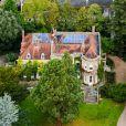 Exclusif - Vue aérienne de la maison de George Clooney et sa femme Amal Alamuddin à Sonning dans le comté de Berkshire, le 10 octobre 2014. Le couple aurait acheté cette maison pour un montant de 7,5 millions de livres sterling. Cette maison serait le cadeau de mariage de George Clooney à sa femme Amal Alamuddin.