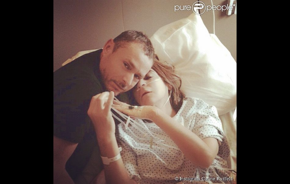 Carine Roitfeld a posté cette photo d'elle à l'hôpital en compagnie de Tom Pécheux