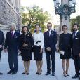 Le prince Carl Philip et sa fiancée Sofia Hellqvist avec la famille royale lors de l'ouverture du Parlement suédois en présence de la famille royale à Stockholm le 30 septembre 2014