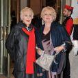 Nicole Croisille et Marie-Christine Barrault - Gala de l'Espoir au théâtre des Champs-Elysées à Paris, le 23 octobre 2014.