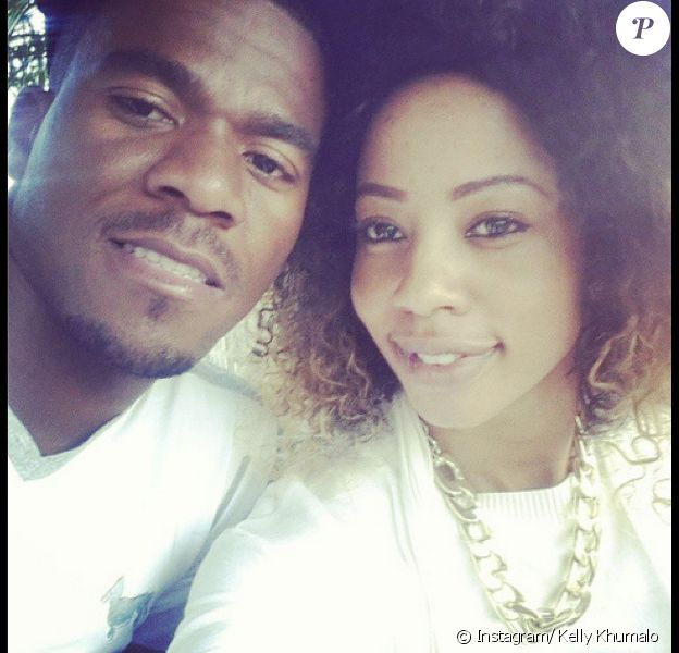 Senzo Meyiwa et Kelly Khumalo - photo publiée sur le compte Instagram de la chanteuse le 21 septembre 2014