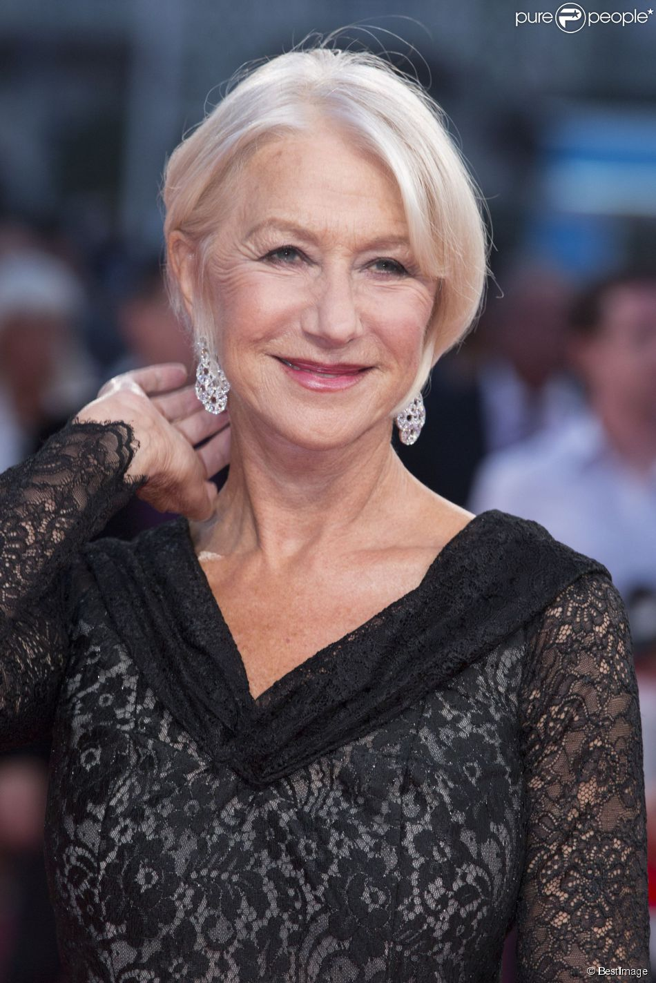 """Helen Mirren - Avant-première du film """"Les recettes du Bonheur"""" lors du 40e festival du cinéma américain de Deauville le 6 septembre 2014. L'actrice est la nouvelle égérie L'Oréal Paris pour le Royaume-Uni"""