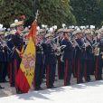 Le roi Felipe VI et la reine Letizia d'Espagne ont accueilli le 29 octobre 2014 au palais du Pardo, à Madrid, Michelle Bachelet, présidente du Chili, en visite d'Etat de deux jours.